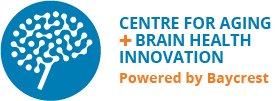 "Logo for ""Centre for Aging + Brain Health Innovation, Powered by Baycrest"""